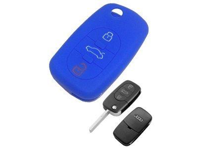 Silikonska zaštita za auto ključ SEL123 - Audi, plava