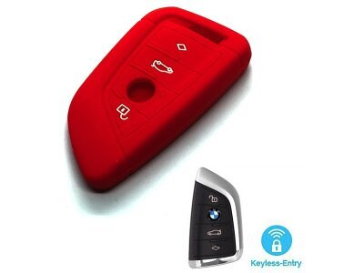 Silikonska zaštita za auto ključ SEL131 - BMW, crvena