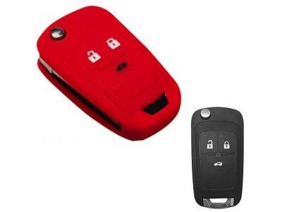 Silikonska zaštita za auto ključ SEL133 - Chevrolet, crvena
