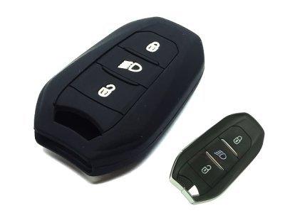 Silikonska zaštita za auto ključ SEL138 - Peugeot, crna