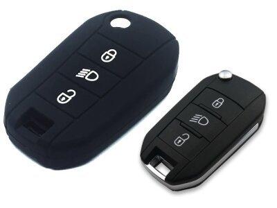 Silikonska zaštita za auto ključ SEL139 - Peugeot, crna