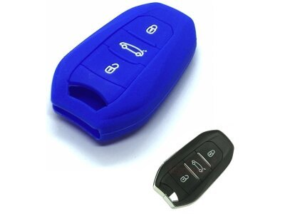Silikonska zaštita za auto ključ SEL140 - Peugeot, plava
