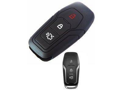 Silikonska zaštita za auto ključ SEL143 - Ford, crna