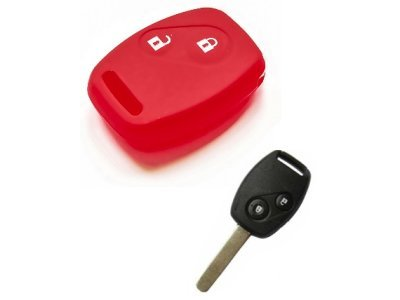 Silikonska zaštita za auto ključ SEL145 - Honda,  crvena