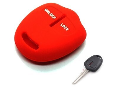 Silikonska zaštita za auto ključ SEL154 - Mitsubishi, crvena