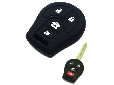 Silikonska zaštita za auto ključ SEL161 - Nissan, crna