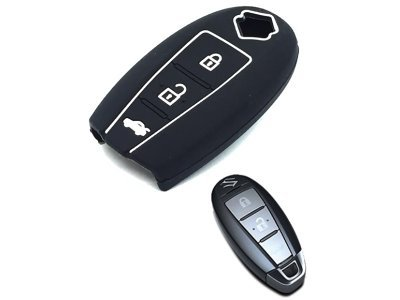 Silikonska zaštita za auto ključ SEL171 - Suzuki, crna