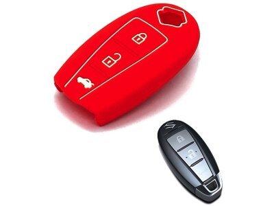 Silikonska zaštita za auto ključ SEL171 - Suzuki, crvena