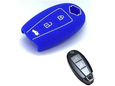 Silikonska zaštita za auto ključ SEL171 - Suzuki, plava