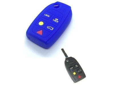 Silikonska zaštita za auto ključ SEL174 - Volvo, plava