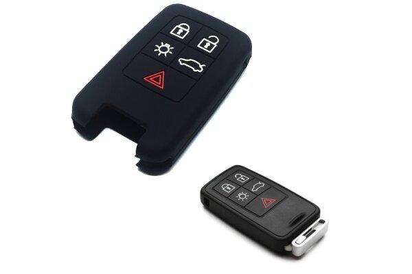 Silikonska zaštita za auto ključ SEL175 - Volvo, crna