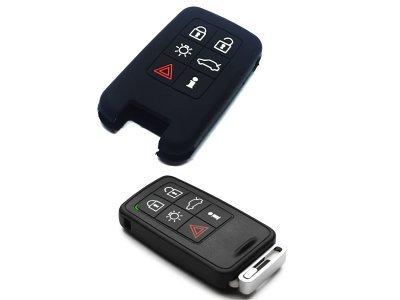 Silikonska zaštita za auto ključ SEL176 - Volvo, crna