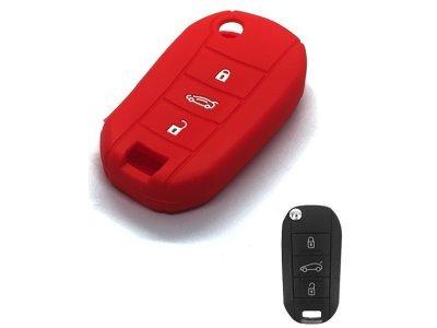 Silikonska zaštita za auto ključ SEL241 - Peugeot, crvena