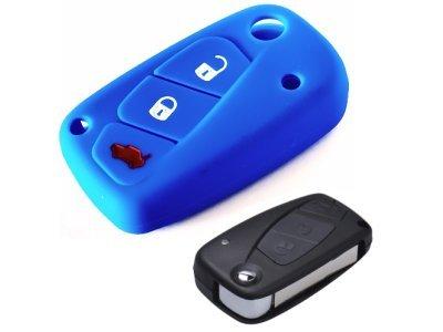 Silikonska zaštita za auto ključ SELM015 - Lancia, plava