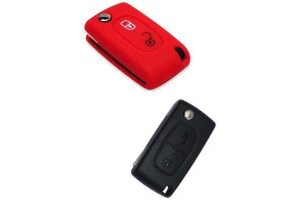 Silikonska zaštita za auto ključ SELR011 - Citroen, crvena