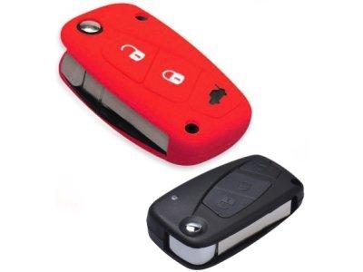 Silikonska zaštita za auto ključ SELR015 - Lancia, crvena