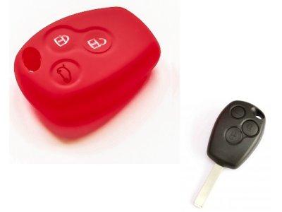 Silikonska zaštita za auto ključ SELR038  - Renault, crvena