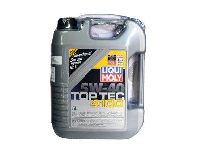 Sintetično olje Liqui Moly 5W40, 5L, TOPTEC4100