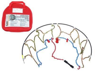 Snežne verige 155/80-13, 9mm, Certifikacija Önorm V 5117 + Torba za shranjevanjem + rokavice