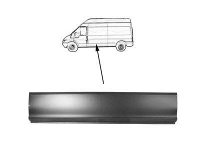 Srednji rub Ford Transit 01- donji, 119cm