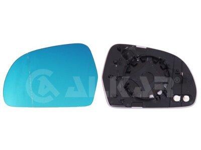 Staklo ogledala Audi A4 07-09, plavo, grejano