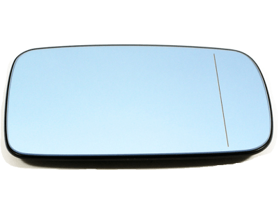 Staklo ogledala BMW 7 (E65/E66) 01-06, plavo,grijano