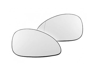 Steklo ogledala Citroen C4 04-10, belo, asferično