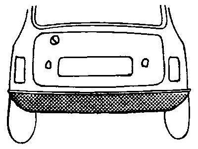 stražnja lajsna Rover Mini