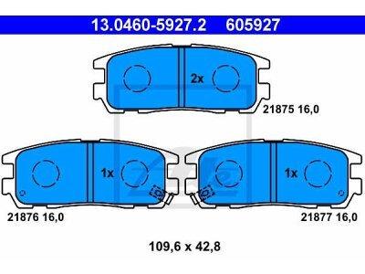 Stražnje kočione obloge 13.0460-5927.2 - Isuzu D-Max 02-