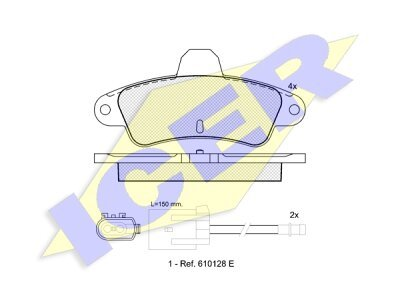 Stražnje kočione obloge 61816 - Ford