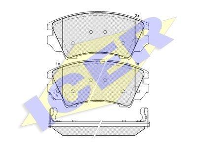 Stražnje kočione obloge 90376 - Opel