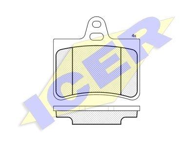 Stražnje kočione obloge IE181407 - Citroen C5 01-08