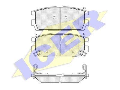 Stražnje kočione obloge IE181615 - Hyundai Terracan 01-06