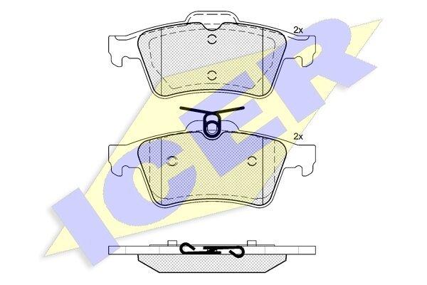 Stražnje kočione obloge IE181651 - Citroen, Ford, Opel, Renault