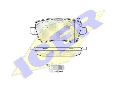 Stražnje kočione obloge IE181763 - Fiat Croma 05-10
