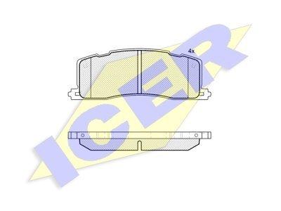 Stražnje kočione obloge IE181817 - Toyota Previa 90-00