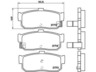Stražnje kočione obloge S70-1360 - Nissan Almera 95-00