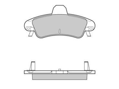 Stražnje kočione obloge S70-1568 - Ford Mondeo 96-00