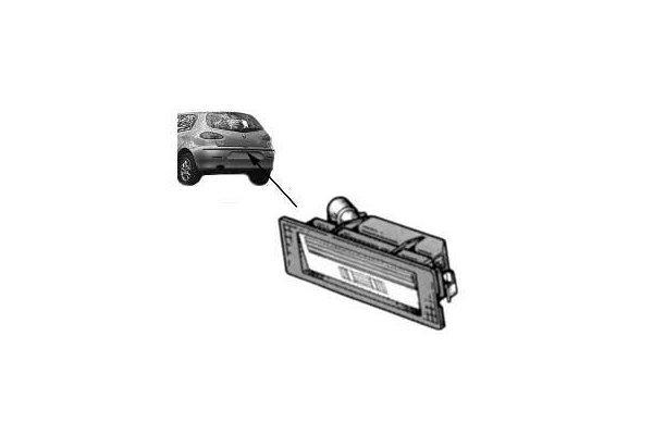 Stražnje osvjetljenje registarske tablice Alfa Romeo 147 00-