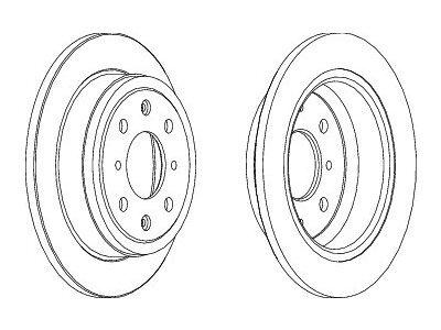 Stražnji kočioni diskovi S71-1094S - Honda Civic 87-01