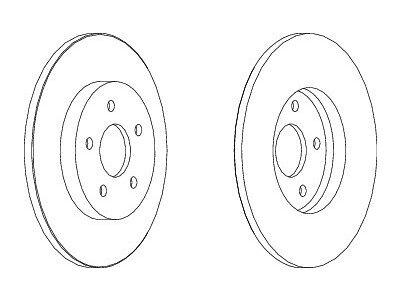 Stražnji kočioni diskovi S71-1098S - Ford Mondeo 00-07