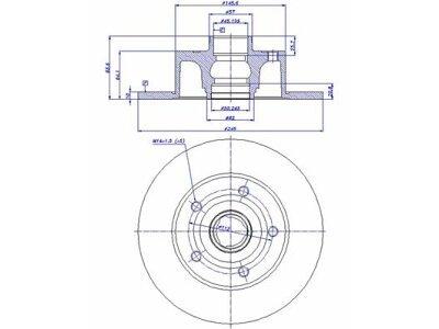 Stražnji kočioni diskovi S71-1110 - Audi