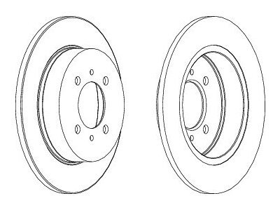 Stražnji kočioni diskovi S71-1305 - Nissan Almera 95-00