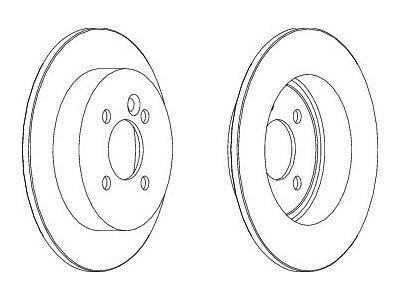 Stražnji kočioni diskovi S71-1314 - Mini Cooper 01-07