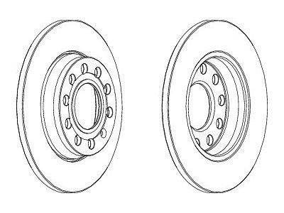 Stražnji kočioni diskovi S71-1319 - Audi A4 00-07