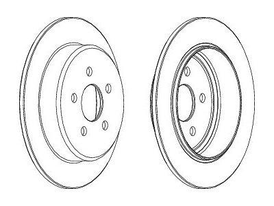 Stražnji kočioni diskovi S71-1373 - Chrysler Sebring 00-07