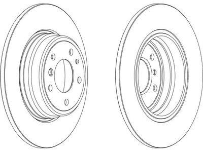Stražnji kočioni diskovi S71-1377 - BMW Serije 7 94-01