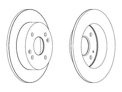 Stražnji kočioni diskovi S71-1403 - Honda Accord 98-02