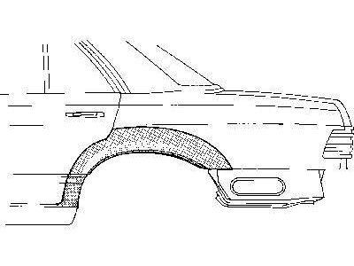Stražnji rubnjak Mercedes S W126 80-91