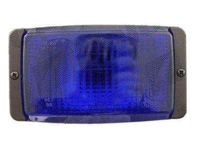 Svjetlo upozorenja 138x78x68mm plavo